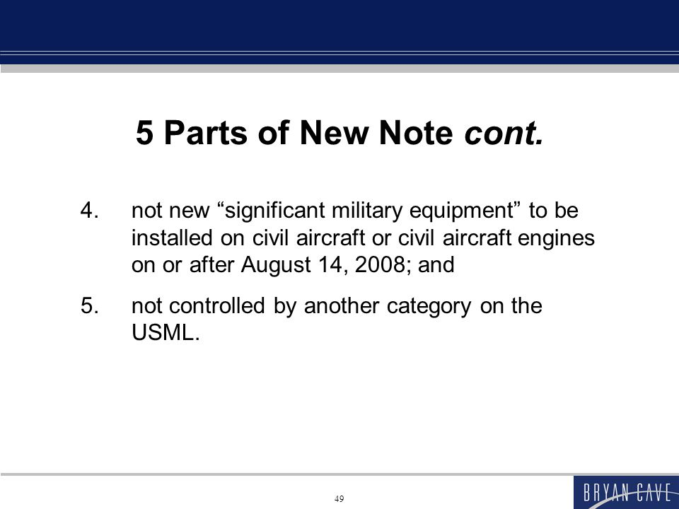 49 5 Parts of New Note cont.