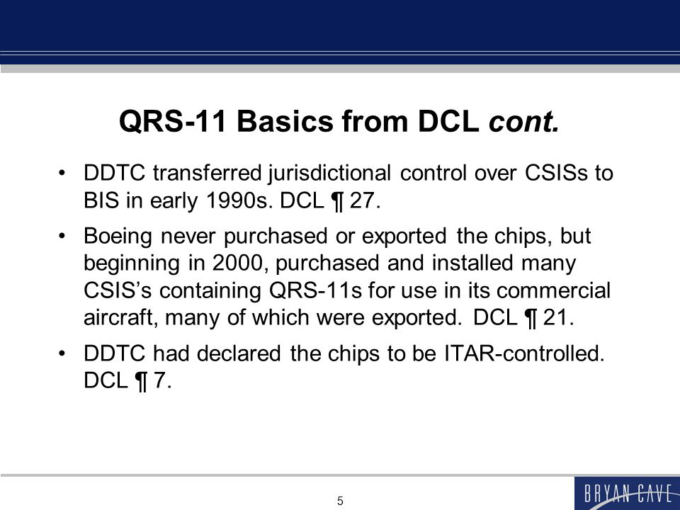 5 QRS-11 Basics from DCL cont.