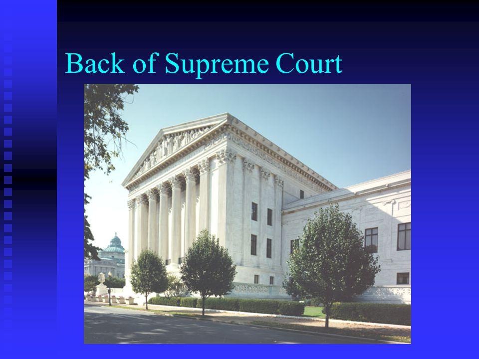 Back of Supreme Court