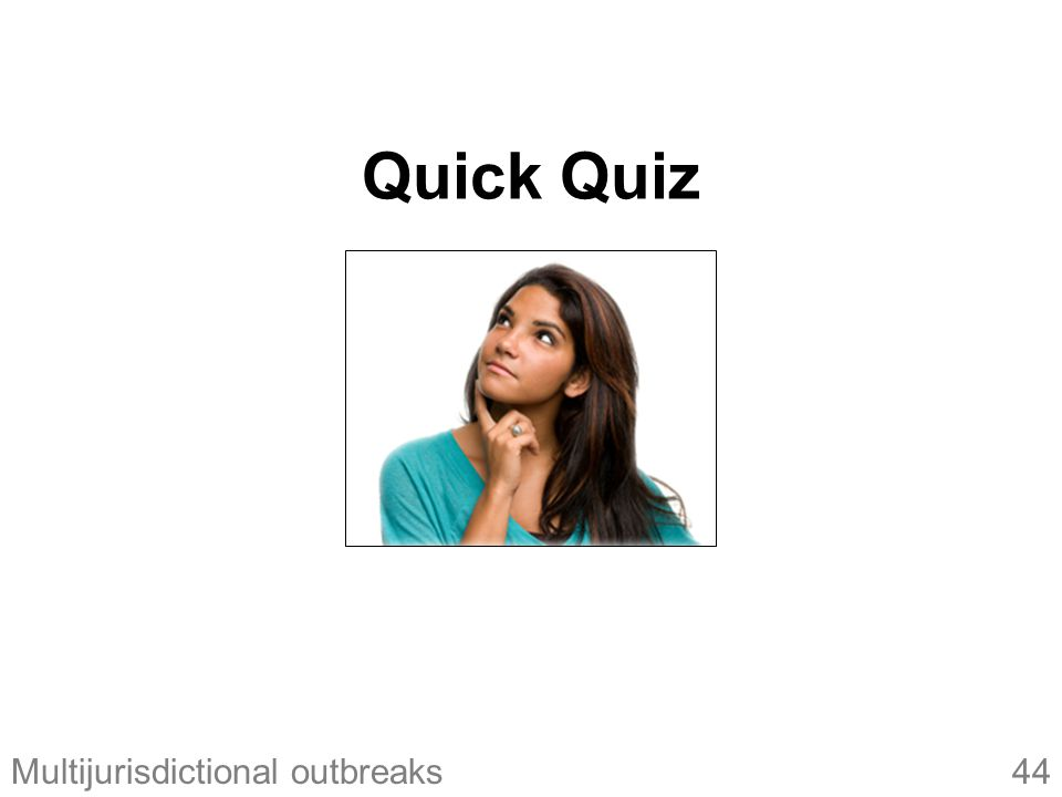 44Multijurisdictional outbreaks Quick Quiz
