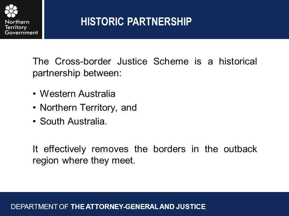 THE REGION WE ARE TALKING ABOUT / NPY SERVICES DEPARTMENT OF THE ATTORNEY-GENERAL AND JUSTICE