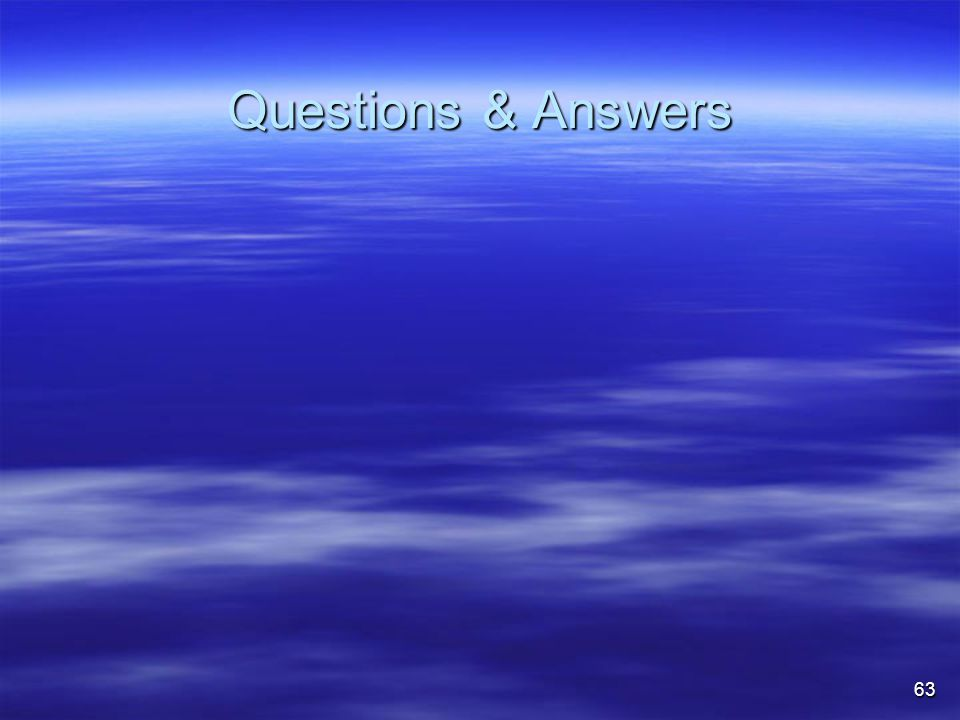 63 Questions & Answers