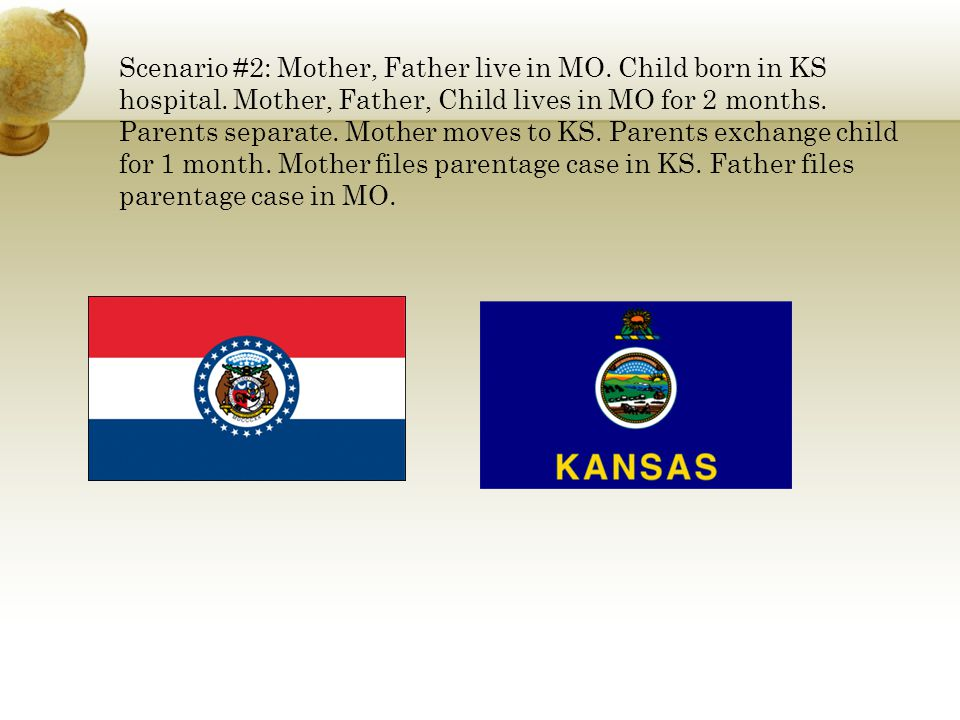 Scenario #2: Mother, Father live in MO. Child born in KS hospital.