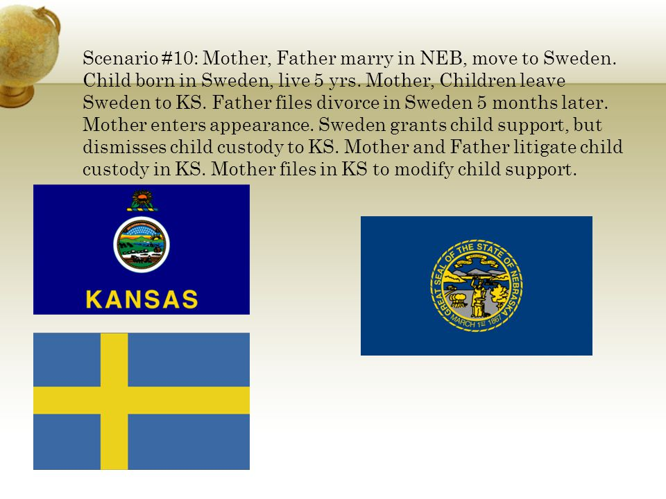 Scenario #10: Mother, Father marry in NEB, move to Sweden.