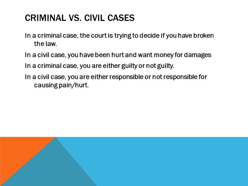CRIMINAL VS.
