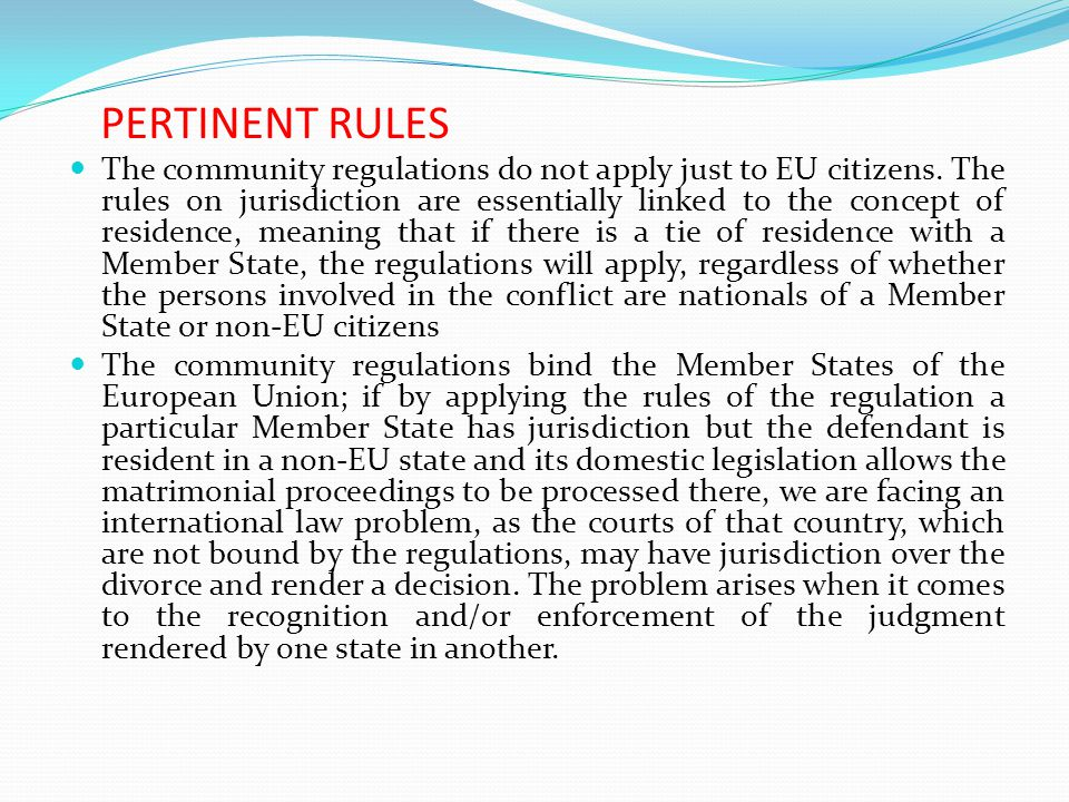 The community regulations do not apply just to EU citizens.