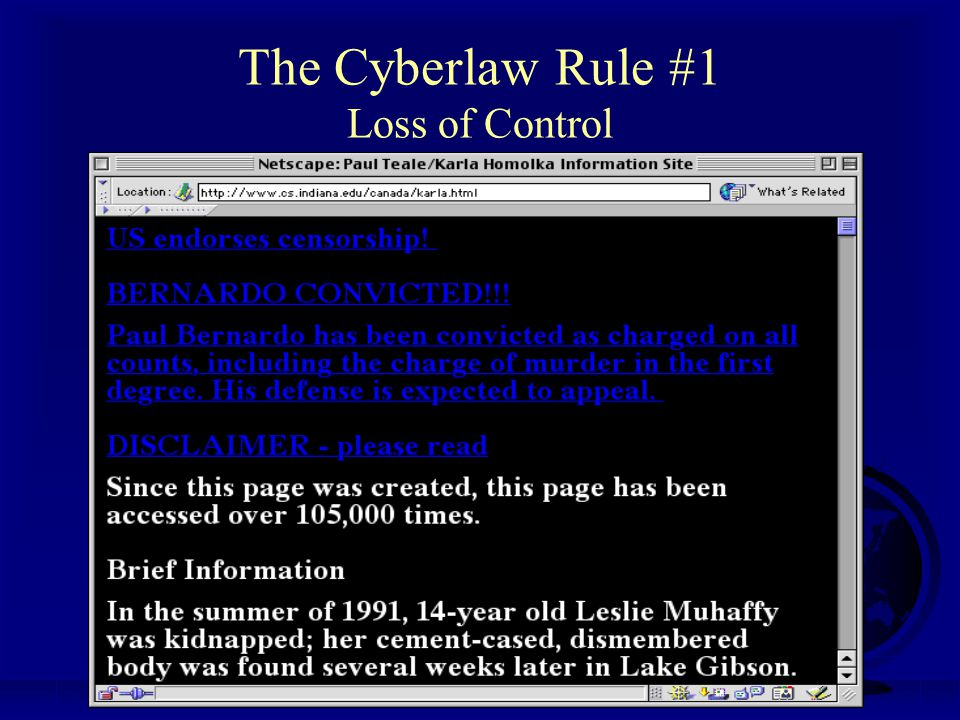 Professor Michael A. Geist www.lawbytes.com The Cyberlaw Rule #3 Volume