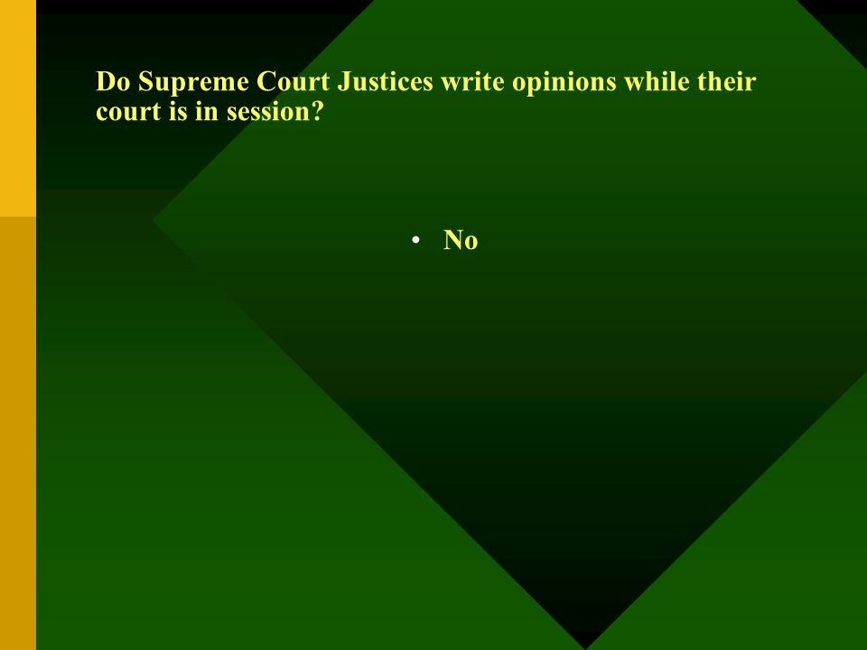 Do Supreme Court Justices write opinions while their court is in session? No