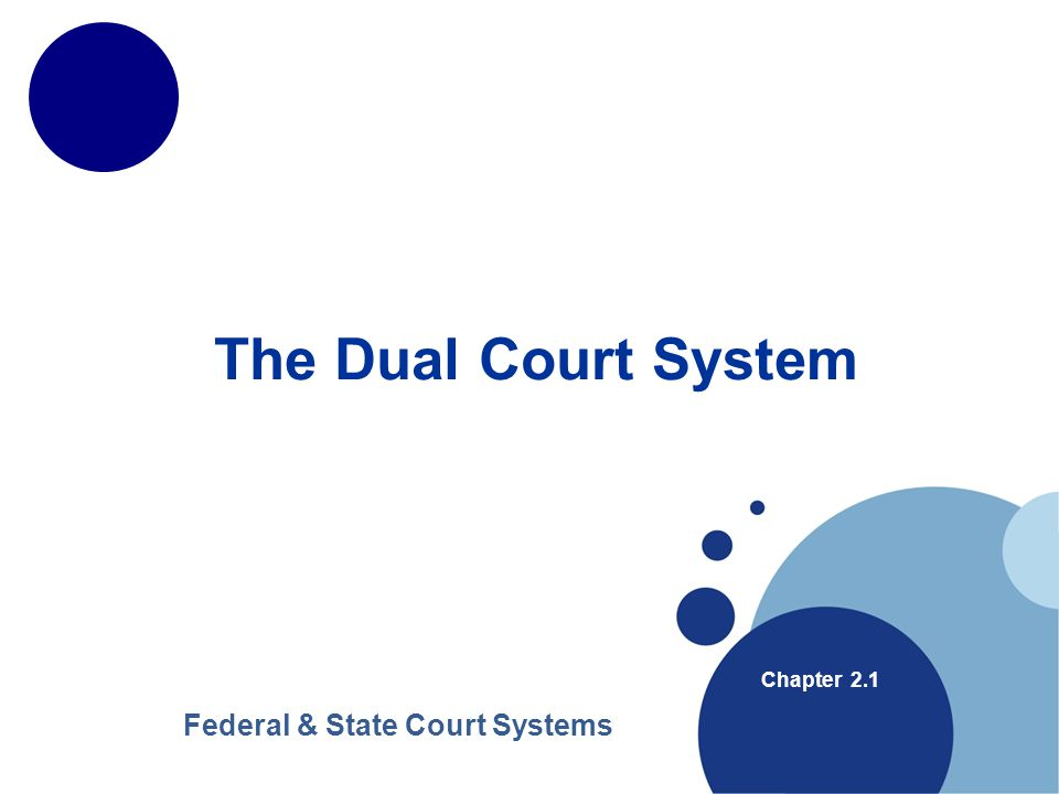 www.company.com Company LOGO www.company.com The Dual Court System Chapter 2.1 Federal & State Court Systems