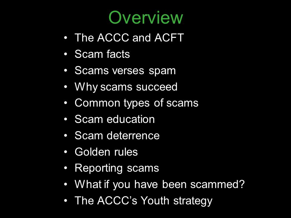 Who is the ACCC.