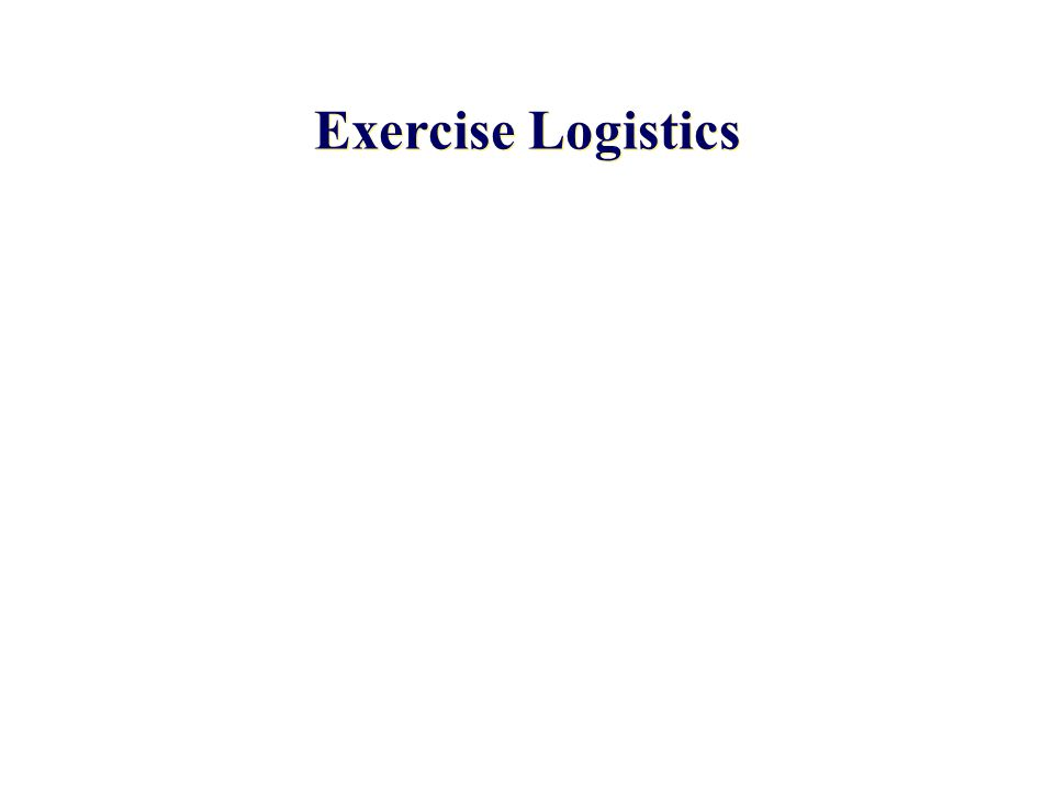 Exercise Logistics