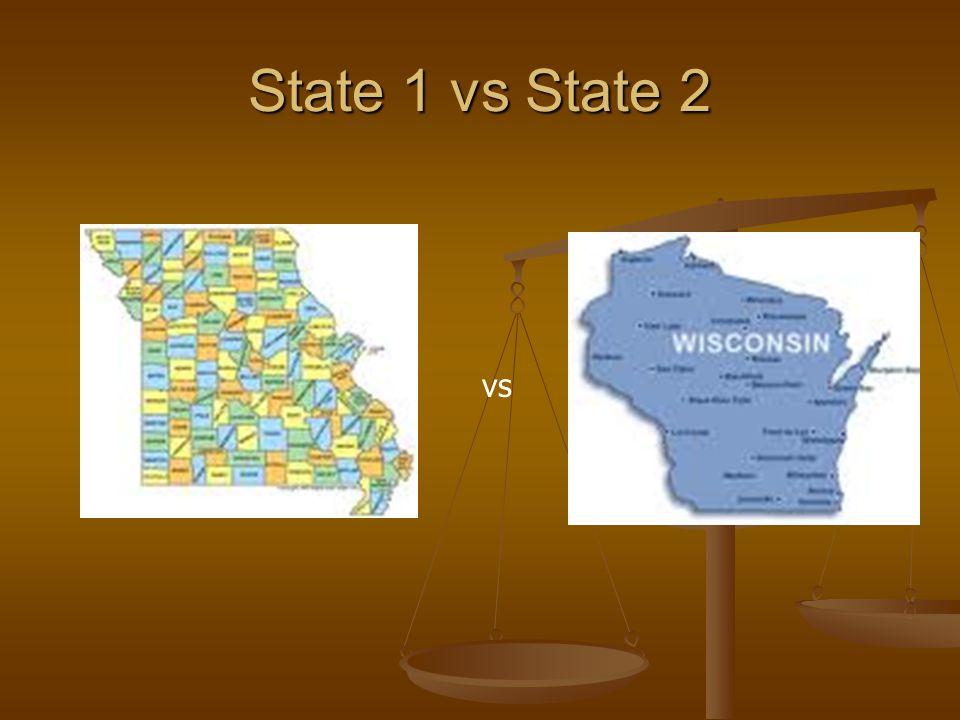 State 1 vs State 2 vs