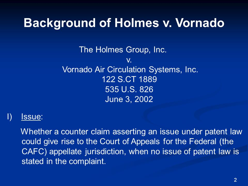 Background of Holmes v.