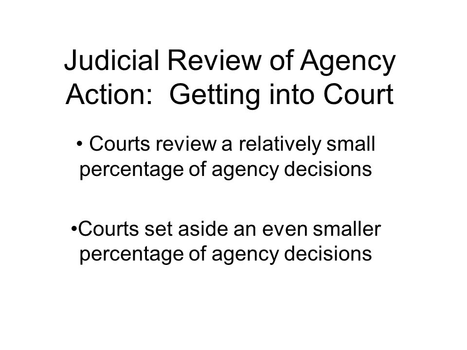 Judicial Review Whether the case may be taken to court.