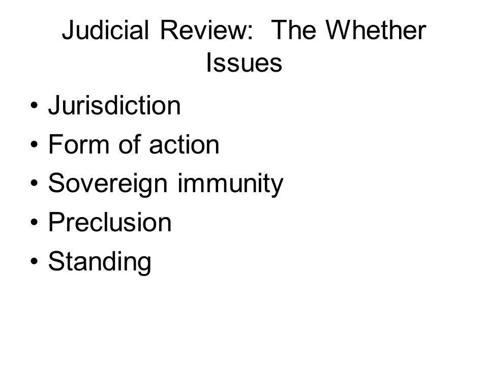1.Judicial Review: Jurisdiction Recall your fundamentals!.