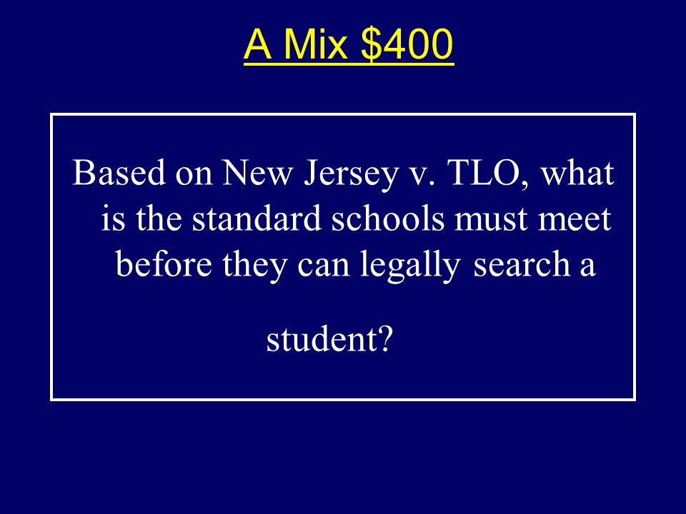 A Mix $400$400 Based on New Jersey v.