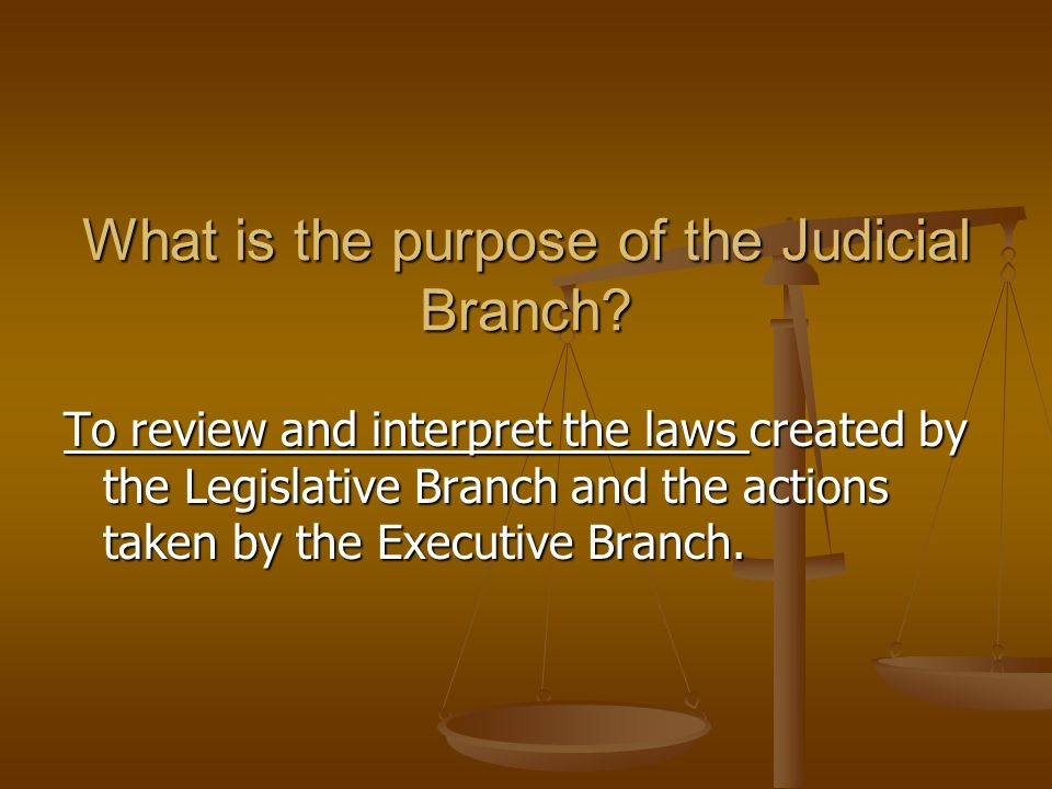 What does that mean? How does the Constitution define the job of the Courts?
