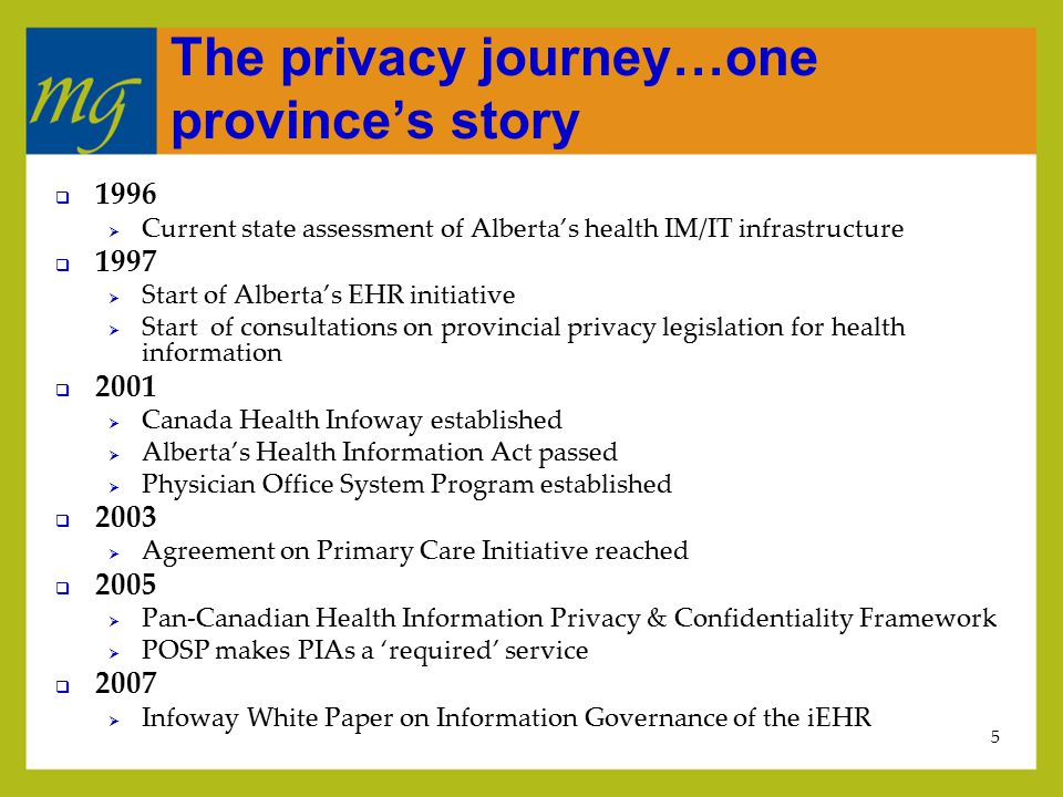 6 Where we're at in Alberta  Physicians  Approximately 90% compliance with PIA requirement  Regions/providers  Sharing information (lab, drugs and DI text) via Portal 2006  Any physician can see any patient  Access audited  Primary care networks  Engaged in discussion re: what data is shared with whom  Inter-jurisdictional  Paper/phone on a patient-by-patient basis  Discussions re: increasing access underway