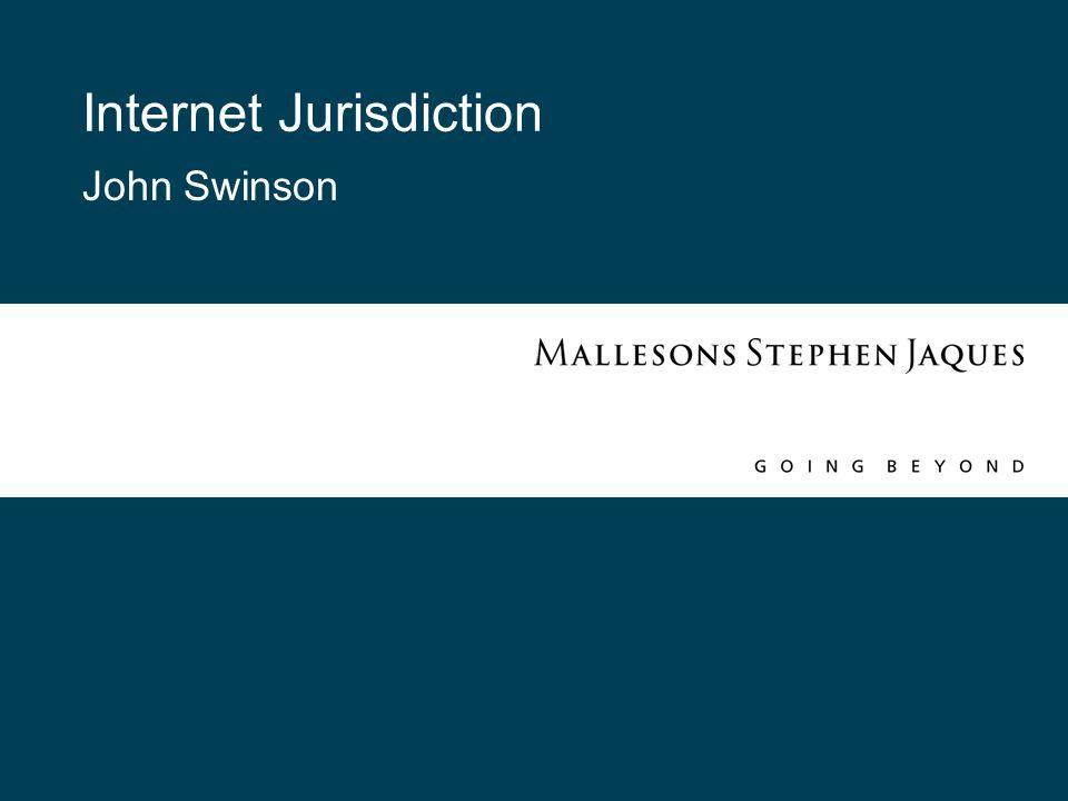 Internet Jurisdiction John Swinson