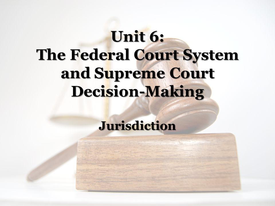 Jurisdiction: Main Idea: Introduction to Jurisdiction Notes: In US Federalism, our judicial system has parallel courts—federal courts and state courts.