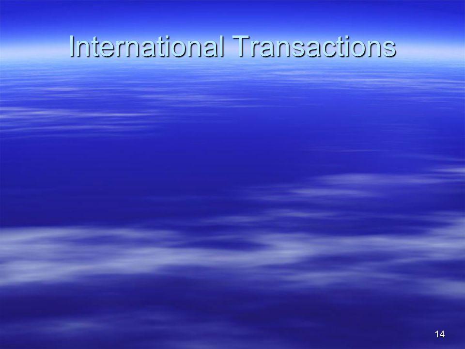 International Transactions 14
