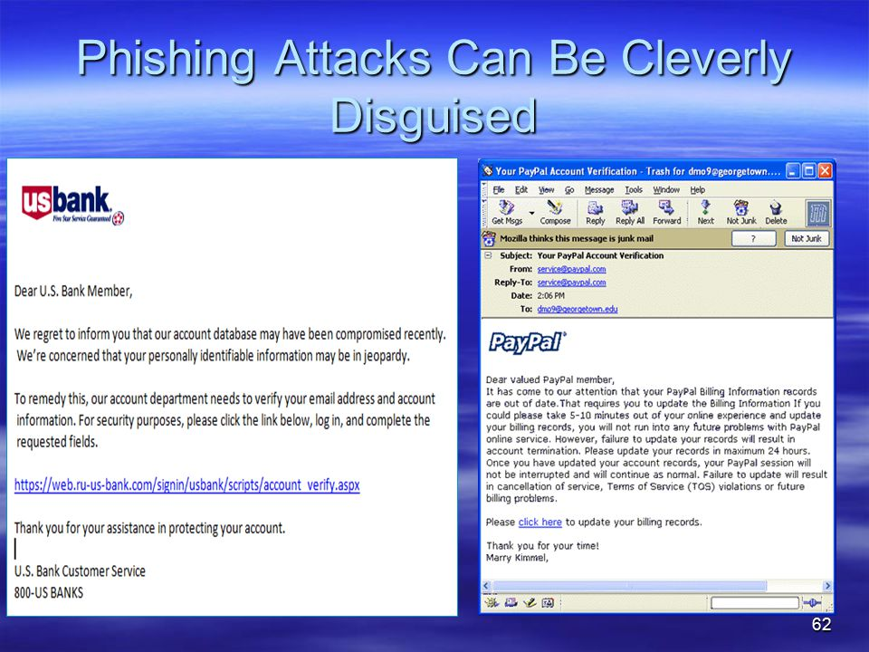 Phishing Attacks Can Be Cleverly Disguised 62