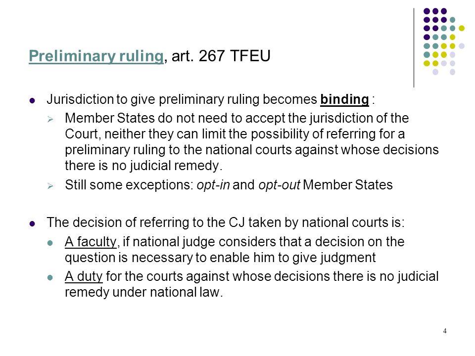 Preliminary ruling, art.