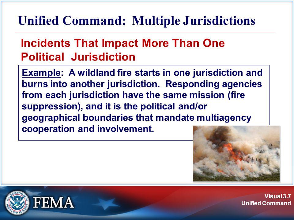 Visual 3.8 Unified Command Multijurisdictional Incident