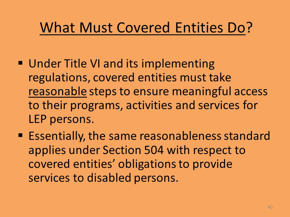 What Must Covered Entities Do.