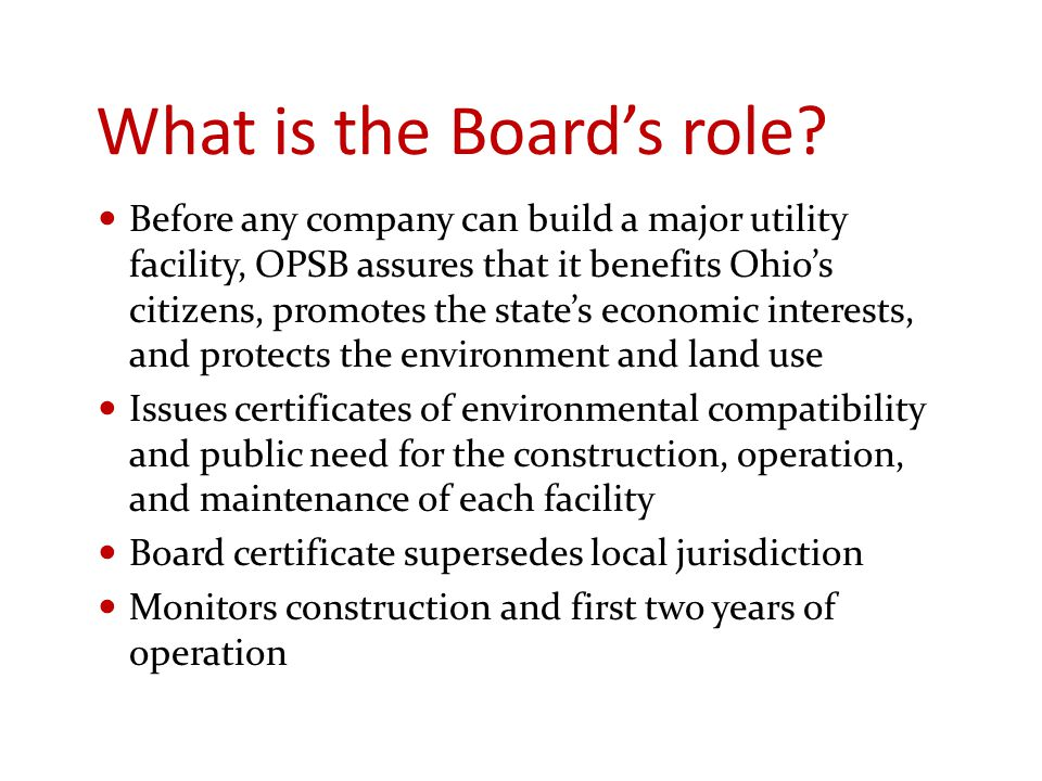 What is the Board's role.