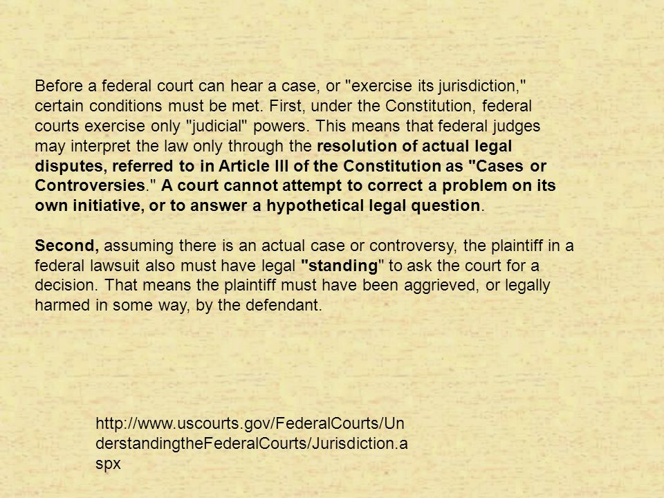 Congress: senate confirmation, Congressional power to impeach and remove, Constitutional Amendment (start the process); Rewrite legislation, Redefine federal jurisdiction of the courts--entire jurisdiction for lower courts, appellate f or Sup.ct.