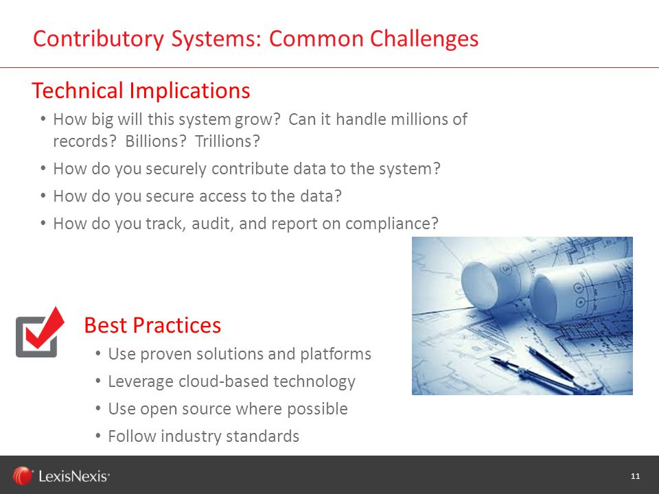 WHT/082311 Contributory Systems: Common Challenges 11 How big will this system grow.
