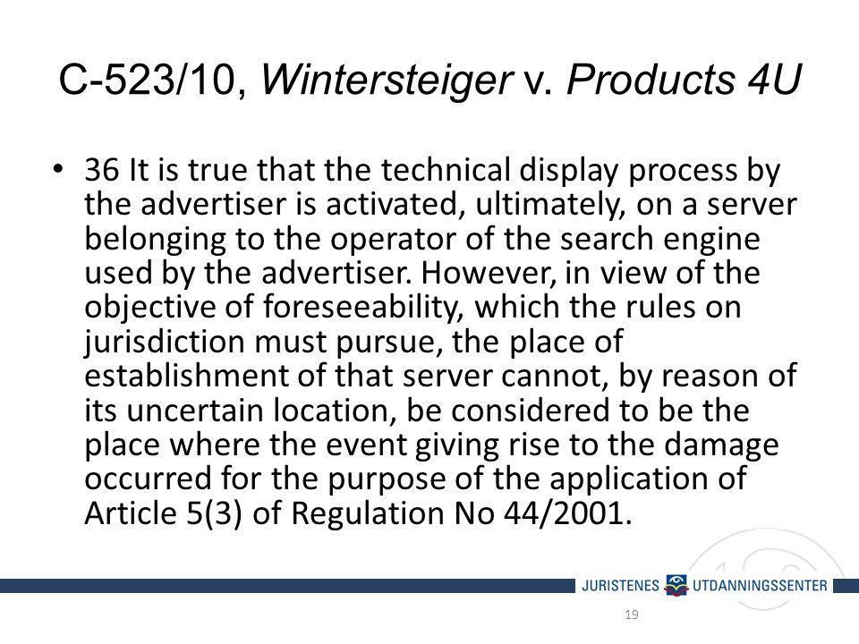 C-523/10, Wintersteiger v.