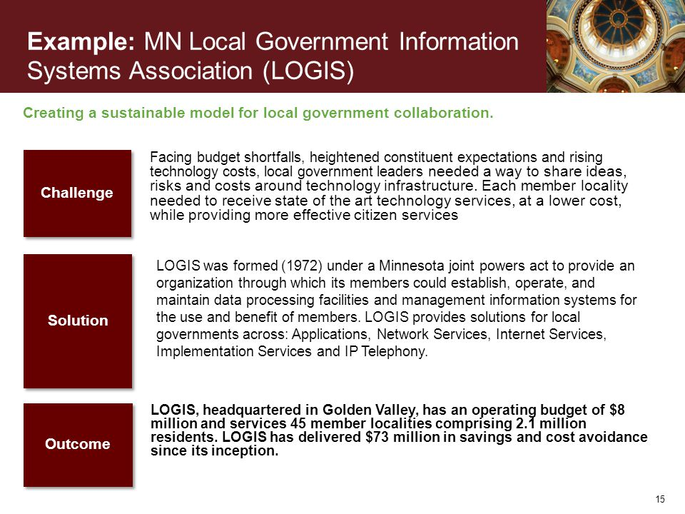 Creating a sustainable model for local government collaboration.