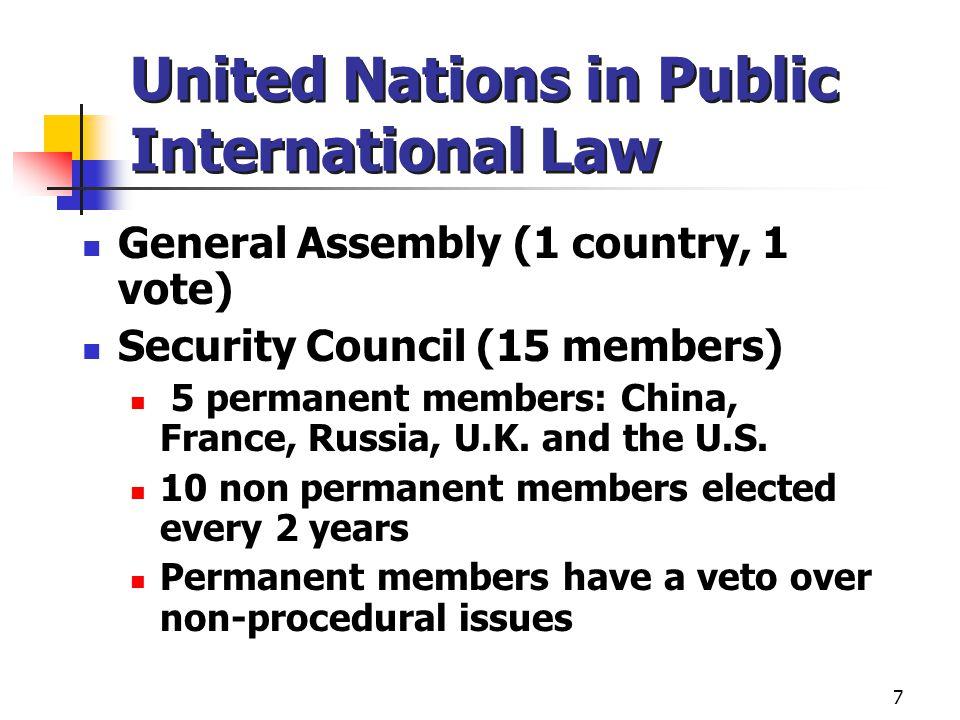 International Criminal Law International Criminal Court – 1998 Rome Statute 108 signatories – not the U.S.