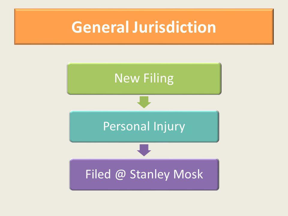 General Jurisdiction New Filing Personal InjuryFiled @ Stanley Mosk