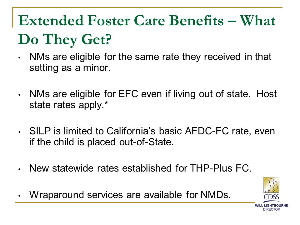 Extended Foster Care Benefits – What Do They Get.
