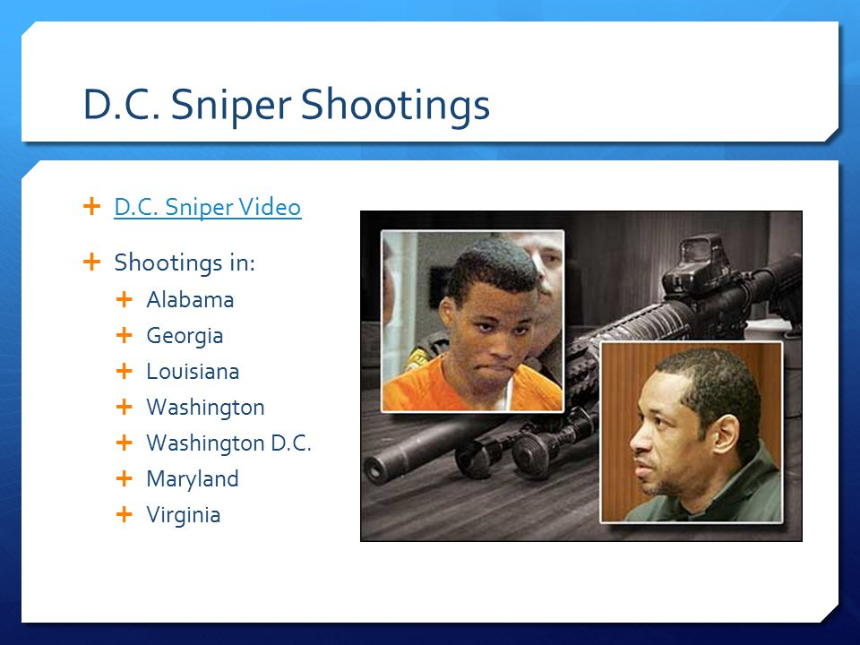 D.C. Sniper Shootings  D.C. Sniper Video D.C.