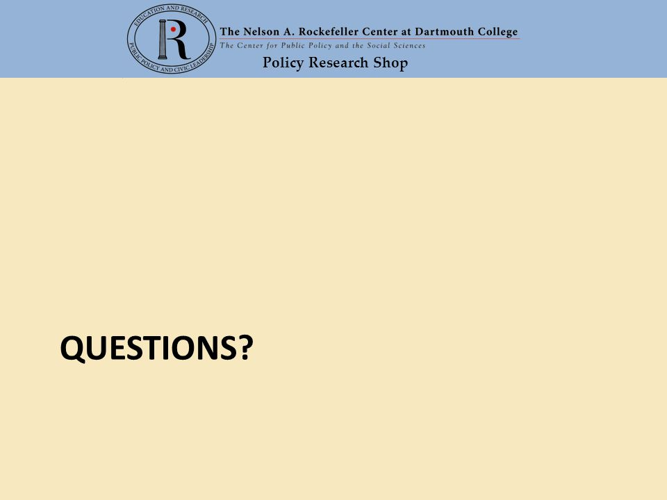 Policy Research Shop QUESTIONS?
