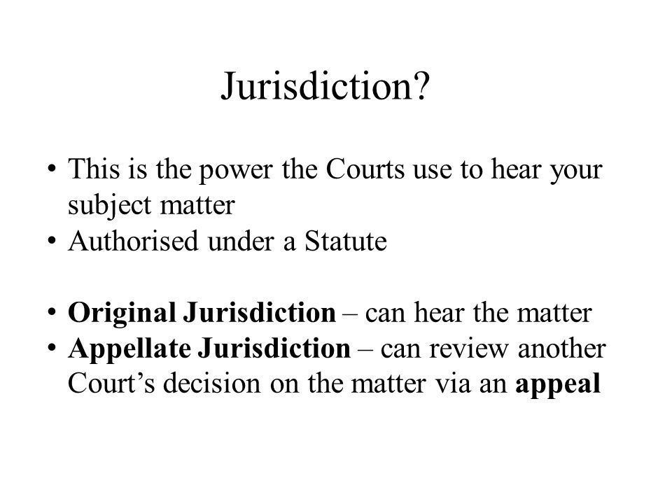 Jurisdiction.
