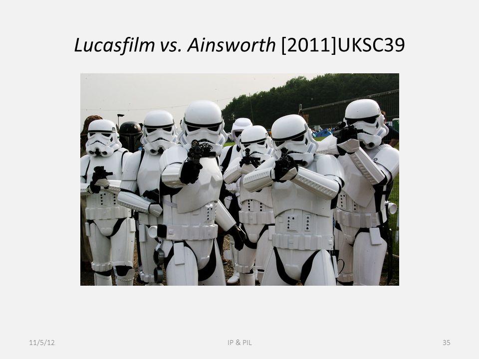 Lucasfilm vs. Ainsworth [2011]UKSC39 11/5/12IP & PIL35
