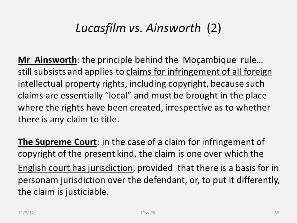 Lucasfilm vs.