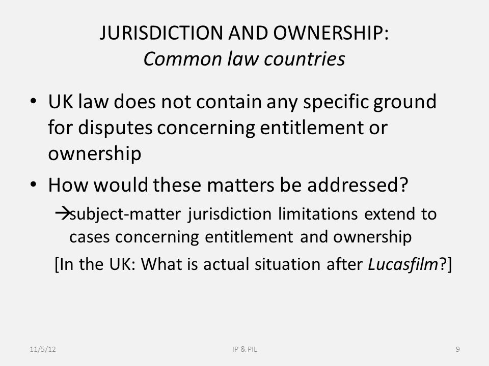 After GAT v LuK Supporters UK authors: GAT v LuK is in line with the common-law practice GAT v LuK maintains legal certainty Criticism GAT v LuK is contrary to the ECJ Practice Jurisdiction depends on whether the claim on invalidity is raised European Patent Rights (EPC) Abuse of process Expensive litigation – Possible solution?.