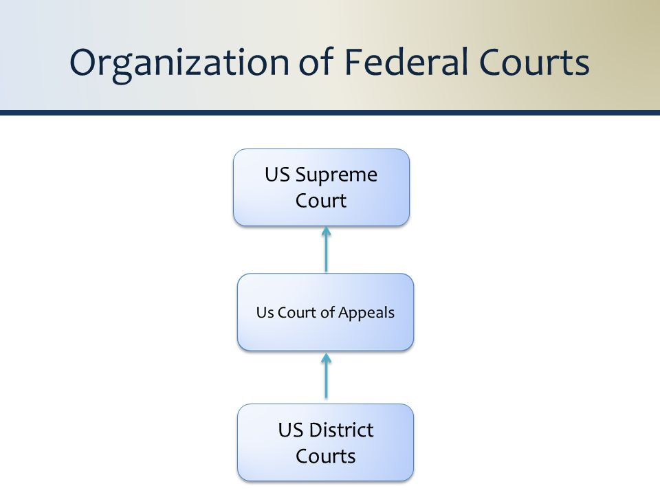 US District Courts US Supreme Court Organization of Federal Courts