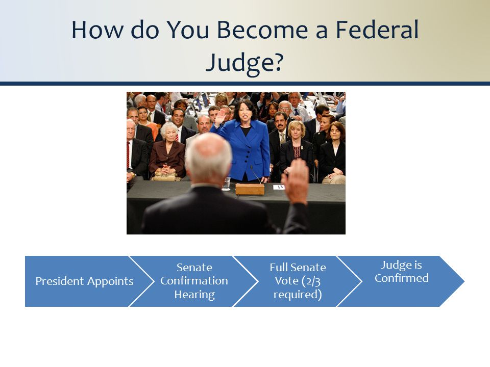 How do You Become a Federal Judge