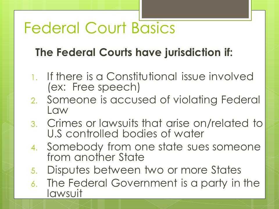 Types of Jurisdiction 1.