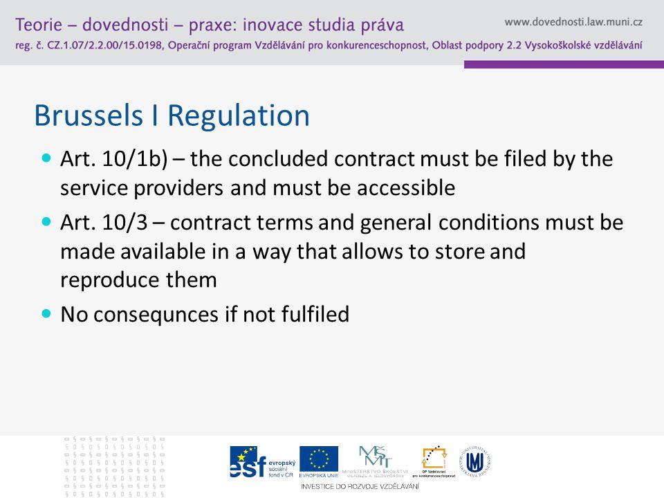 Brussels I Regulation Art.