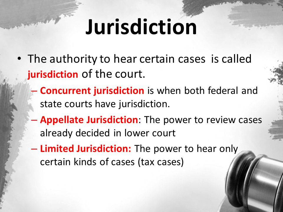 Types of Courts Federal (Supreme Court & inferior federal courts) – established by Congress.