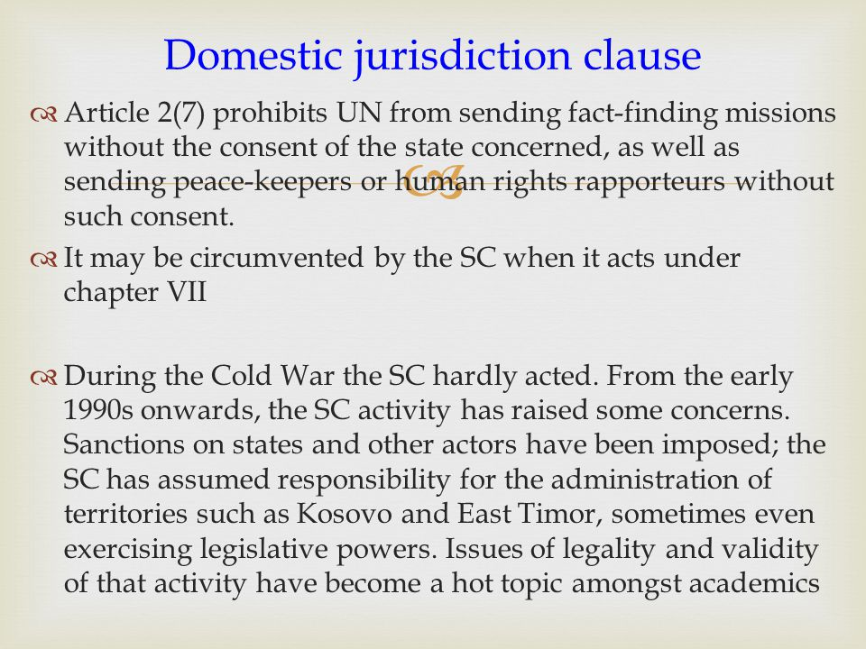   Usually the SC, when imposing sanctions, creates a Sanctions Committee, charged with the task of administering the related regime.