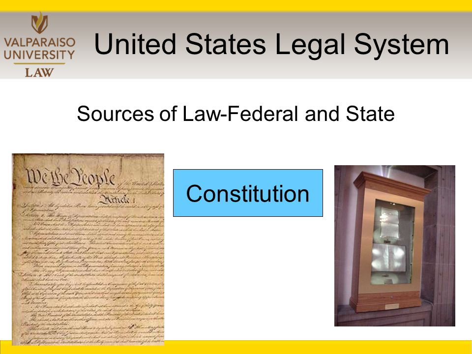 United States Legal System Constitution Sources of Law-Federal and State